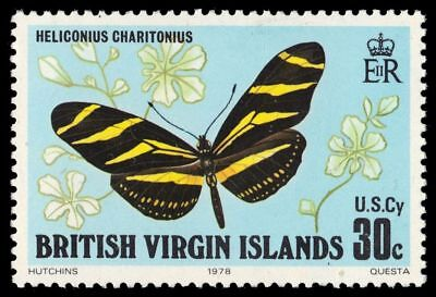 """VIRGIN ISLANDS 344 (SG394) - Longwing Butterfly """"Heliconius charitonius"""" (pf2852"""