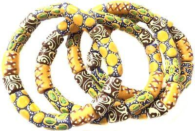 Handmade Ghana Fancy Yellow Gold multi bracelet-African Trade - Yellow Gold Handmade Bracelet