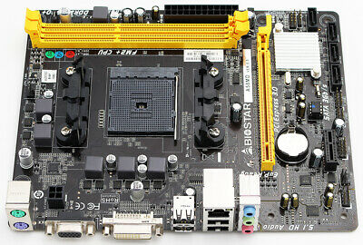 Biostar A58MD Ver.8.0 Mainboard Bulk (AMD Sockel FM2+, ohne Zubehör, mit Blende)
