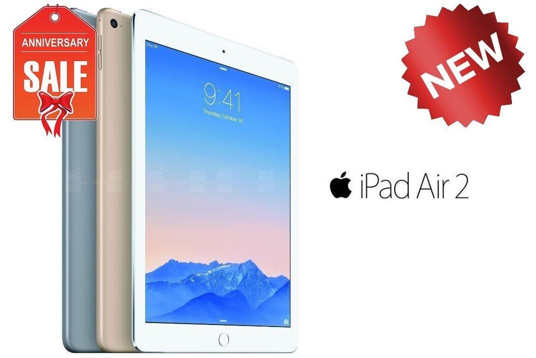 NEW Apple iPad Air 2nd Wi-Fi + UNLOCKED 16GB 32GB 64GB 128GB I GOLD GRAY SILVER
