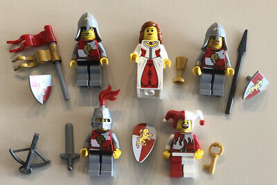 Lego Minifigure Castle Knights Lot T - Red / Gold Lion Knights, Princess