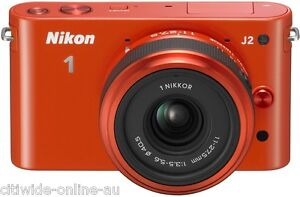 16GB-Battery-Nikon-1-J2-Orange-Digital-Camera-11-27-5mm-Lens-Kit-NK352O