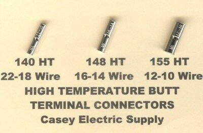 150 High Temperature Butt Connector Terminal 22-1816-14 12-10 Wire Gauge Awg