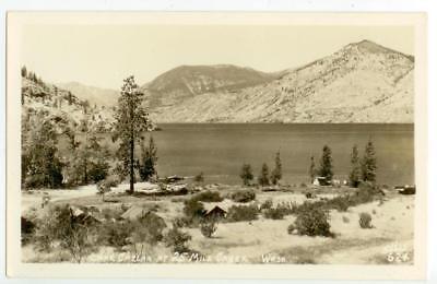 1940s Lake Chelan Washington cabins and campground at 25 Mile Creek Real Photo