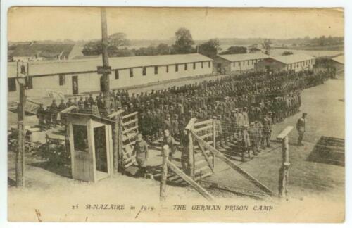WWI 1919 St Nazaire France German Prisoner Of War POW Prison Camp