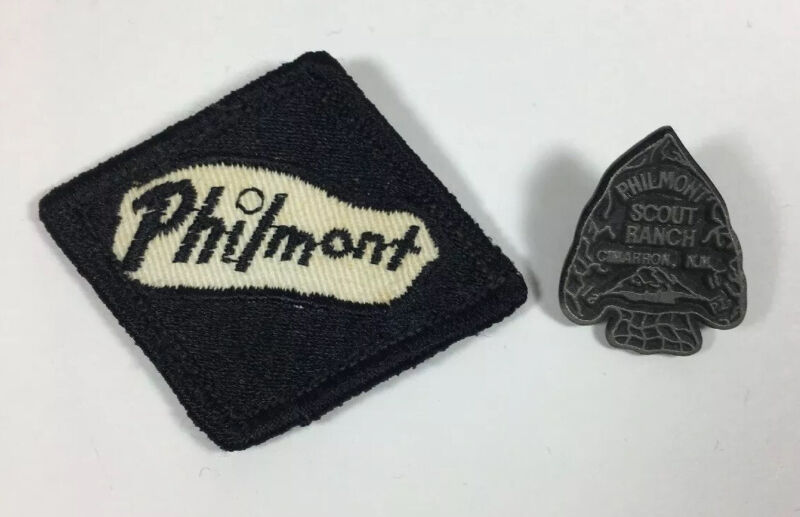 Vintage Philmont Ranch Patch And Pin Boy Scouts BSA