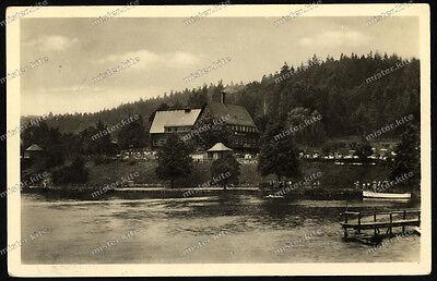 Foto-AK - Talsperre Kriebstein - Hainichen - Blick von der Badeanstalt