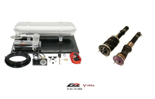 D2 Air Struts + Vera Basic Air Suspension For 04-08 Tl Base Type S 6 Bolt Mount