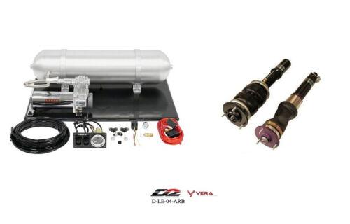 D2 Air Struts + Vera Basic Air Suspension For 1998-2005 Lexus Gs300 Gs400 Rwd