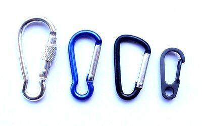 1 3 5pcs Carabiner Clips Key Ring Hiking Camping Belt Drink Bottle Holder Choose
