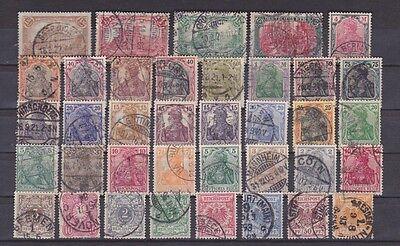 Reichspost und Deutsches Reich - kleines Lot gestempelter Marken
