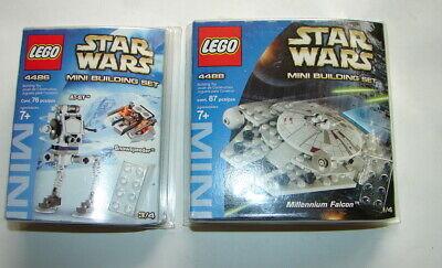 Star Wars LEGO Mini Building set lot of 2 4486 4488 AT-ST Millennium Falcon 720