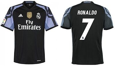 Trikot Adidas Real Madrid 2016-2017 Third WC Ronaldo - CR7 Badge Klubweltmeister (Real Madrid Wc)