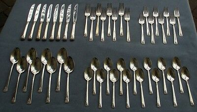 International Silver Spring Charm - 47 Pcs, Set for EIGHT International Silver Silverplate Spring Charm Flatware