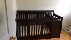 Storkcraft crib with attached Changing Table