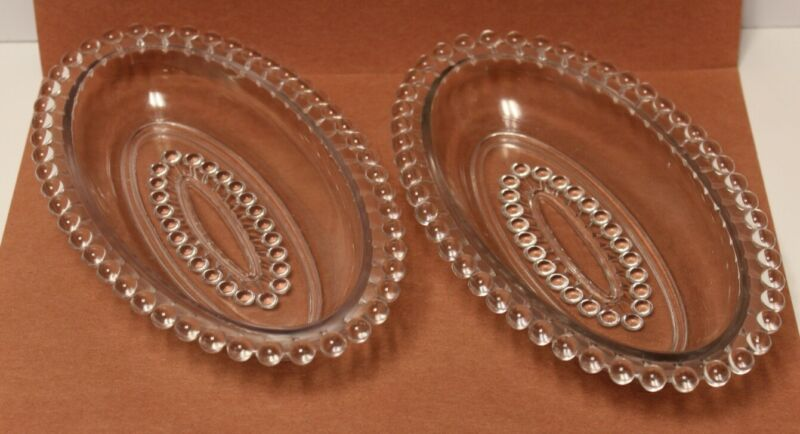 """Vintage Imperial Candlewick 8 ½"""" Oval Relish Dish - Preowned Very Good Condition"""