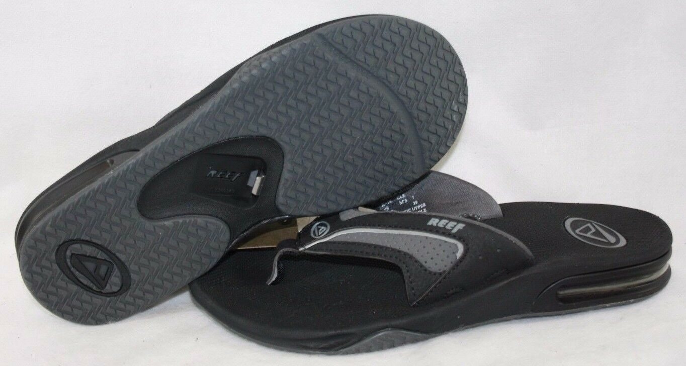 NEW Mens REEF Stealth Black Grey Waterproof Slip One Flip Fl