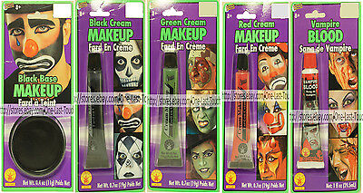 RUBIE'S* Water Washable HALLOWEEN Makeup or Fake Blood NEW! Carded *YOU CHOOSE* - Washable Fake Blood Halloween