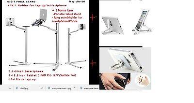 """Magichold® Height adjust 360º turn laptop & ipad Pro /tablet(7-13"""")stand+ BONUS="""