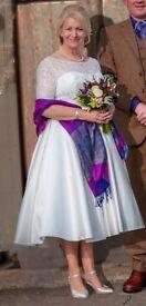 Ivory Tea Length Wedding Dress. Immaculate.