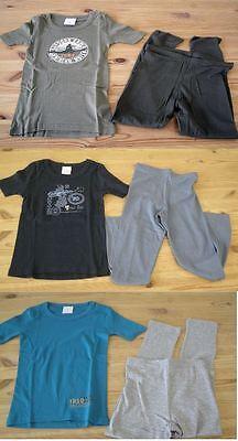 Jungen lange Ski Unterwäsche Schlafanzug khaki blau 92 104 116 128 140 152 164