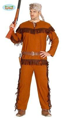 Kostüme Für Läufer (Trapper Kostüm für Herren Braunes Herrenkostüm Jäger Waldläufer)