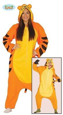Tiger Kostüm für Erwachsene Unisex Karneval Fasching Motto Party Einteiler ()