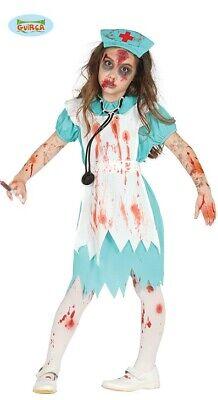 Grünes Zombie OP Krankenschwester Kinder Halloween Kinderkostüm - Krankenschwester Kostüm Kind
