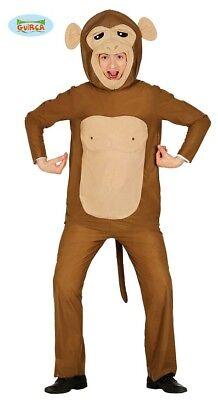 Affen Kostüm für Erwachsene Tierkostüm Affenkostüm Affe Braun Zoo Tier