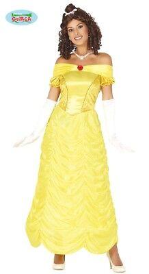 Prinzessin Kleid gelb Damen Prinzessin Ballkleid Kostüm ()