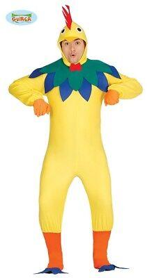 Hühner Hahn Kostüm für Erwachsene Herren Vogel Tierkostüm (Bauern Kostüm)