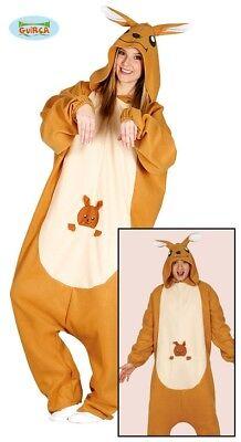 Känguru Pyjama Kostüm für Erwachsene Overall Tierkostüm Australien Jumpsuit