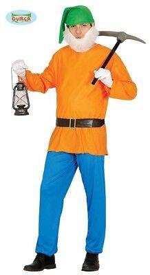 Zwerg Gartenzwerg Gnom Kostüm sieben Zwerge Herren one size