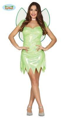 Sexy Grüne Fee Kostüm für Damen Karneval Fasching Märchen Grün Flügel