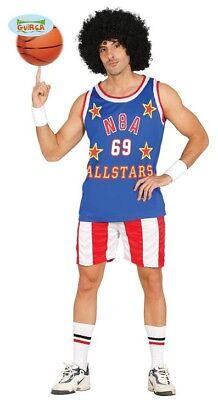Cooler Basketball Spieler Karneval Fasching Party Kostüm Herren Blau Rot