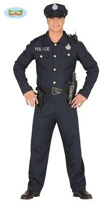 Herren Kostüme Sexy (Sexy Cop - Kostüm für Herren Karneval Fasching Party Polizist Polizei Blau Gr. M)