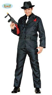 Gangster Mafia anzug Nadelstreifen Al Capone Kostüm für Herren Karneval ()