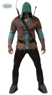 Kostüme Für Läufer (Bogenschütze Jäger Rächer für Herren Herrenkostüm Waldläufer)