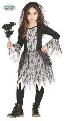 Geister Mädchen Kostüm für Kinder Gothic Braut Halloween - Gothic Mädchen Kostüm