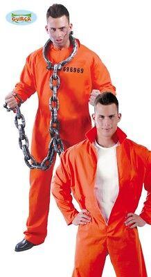 Häftlingskostüm verurteilt orange Gefängnisklage Overall Gefangener Karneval
