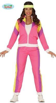 80er 90er Jahre Asi Proletin rosa Jogginganzug Kostüm Damen Jogger Joggerkostüm