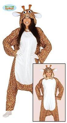 Giraffe Kostüm Erwachsene Schlafanzug Afrika Savanne Damenkostüm Giraffenkostüm
