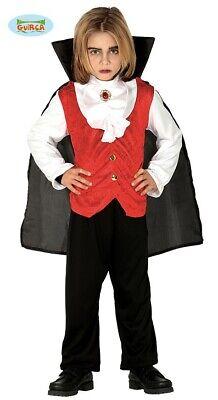 Guirca Classic Vampir Kostüm für Kinder Graf Dracula Junior Halloweenkostüm (Vampir Kostüme Für Halloween Für Kinder)