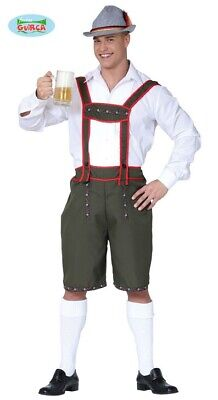 Tiroler Lederhose - Kostüm für Herren Karneval Fasching Oktoberfest Bayern