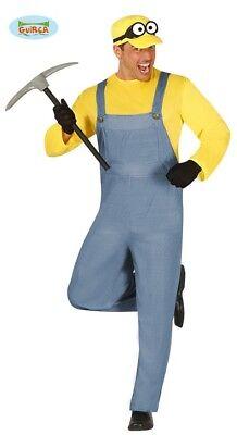 Minenarbeiter Kostüm für Herren Bergarbeiter Bergbau Batterie Lustiger ()