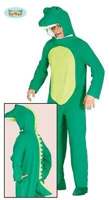 Krokodil Alligator Reptil Kostüm für Herren Tierkostüm Halloween - Reptilien Kostüm