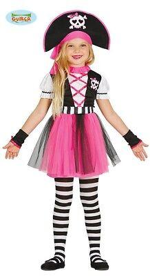 Guirca Pinkes Piratin Kostüm für Mädchen Piratenkostüm Kinder Piraten Pirat