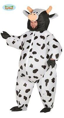 Generique - Kostüm aufblasbares Kuhkostüm für Erwachsene (Aufblasbare Kostüme Kuh)