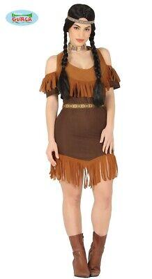 Indianerin Squaw Western Indianer Kostüm Damen