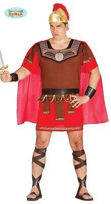 Römischer Soldat Centurio Karneval Party Motto Kostüm für Herren Braun (Römisch Motto Party Kostüm)